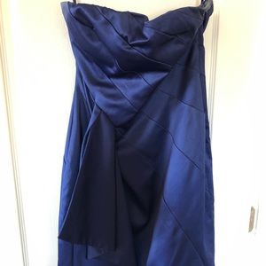 Size M The Limited Royal Blue Strapless Dress